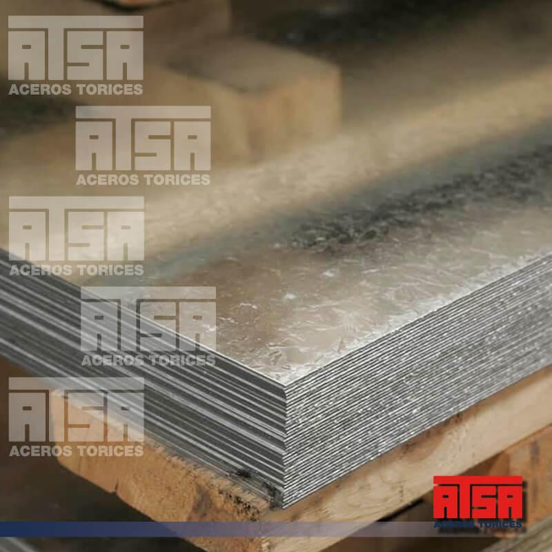 Placa lisa de acero galvanizado